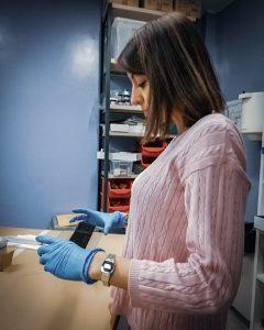 silvia morreale in laboratorio